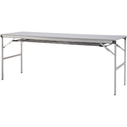 ■アイリスチトセ 折畳みテーブルLOT 棚付き1845Tサイズ ライトグレー  〔品番:LOT-1845T-LGY〕[TR-4526422]【送料別途お見積り】