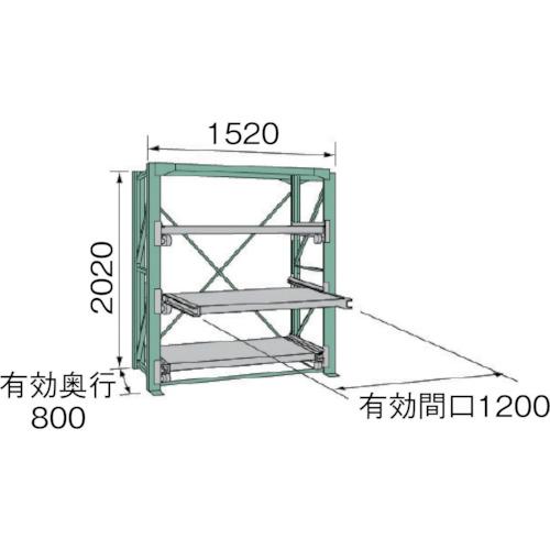 ■KDS スライドラックSSR10-2012-3HT  〔品番:SSR10-2012-3HT〕[TR-4528476]【大型・重量物・個人宅配送不可】