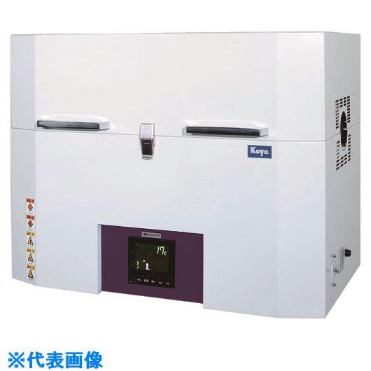 ■光洋 小型チューブ炉 1100℃シリーズ 1ゾーン制御タイプ プログラマ仕様〔品番:KTF045N1〕[TR-4528841]【大型・重量物・個人宅配送不可】