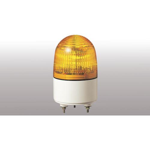 ■パトライト 小型LED表示灯 色:黄  〔品番:PES-24A-Y〕[TR-4538471]