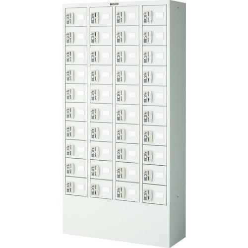 ■TRUSCO 預かりロッカー4列10段 コインリターン錠  〔品番:KTL410-CR〕[TR-4540786]【大型・重量物・個人宅配送不可】