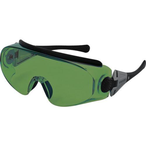 ■YAMAMOTO レーザ光用一眼型保護めがね レンズ色グリーン〔品番:YL-760 YAG〕[TR-4547420]