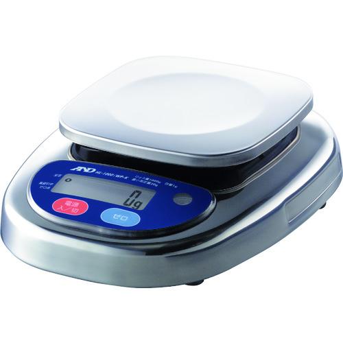 ■A&D 防塵防水デジタルはかり(検定付・2区)  〔品番:HL1000IWP-K-A2〕[TR-4548663]