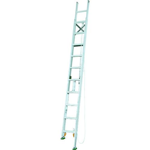 ■アルインコ 脚伸縮二連はしご 全長5.68m 最大使用質量 100kg〔品番:MDE57D〕[TR-4555571]【大型・重量物・個人宅配送不可】