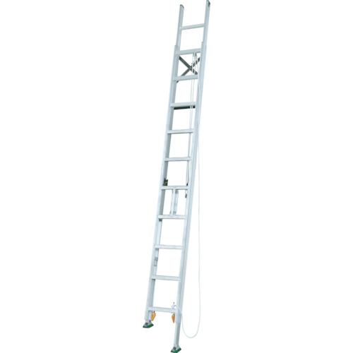 ■アルインコ 脚伸縮二連はしご 全長7.75m 最大使用質量 100kg〔品番:MDE77D〕[TR-4555597]【大型・重量物・個人宅配送不可】