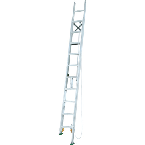 ■アルインコ 脚伸縮二連はしご 全長9.13m 最大使用質量 100kg〔品番:MDE91D〕[TR-4555619]【個人宅配送不可】