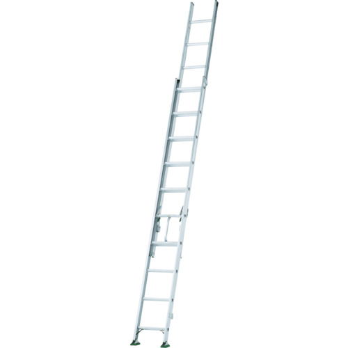 ■アルインコ 二連梯子 全長6.05m~10.19m 最大仕様質量130kg〔品番:SX103D〕[TR-4555767]【個人宅配送不可】