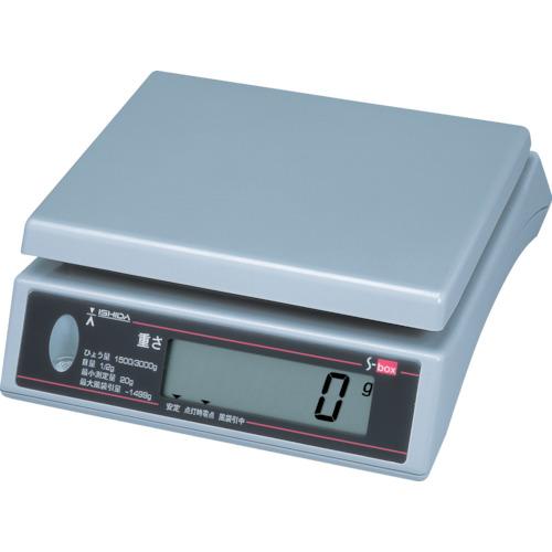 ■イシダ 上皿型重量ハカリ  〔品番:S-BOX-3〕[TR-4568621]【個人宅配送不可】