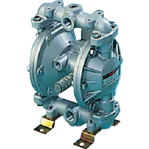 ■TAIYO ダイヤフラムポンプ 吐出量:35L/min ポンプ口径:Rc1/2〔品番:TD-15AT〕[TR-4608488]【個人宅配送不可】