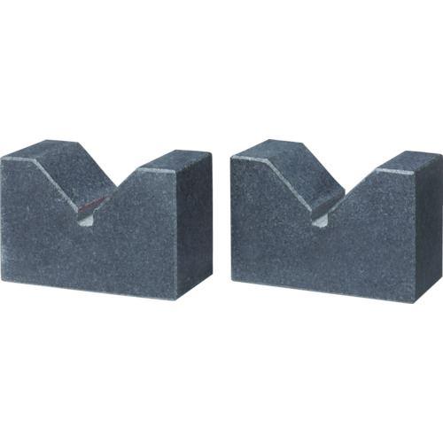 ■TSUBACO 石製Vブロック125X70X50  〔品番:TV-12570〕[TR-4622791]【個人宅配送不可】