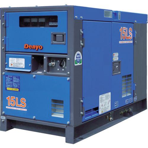 ■デンヨー 防音型ディーゼルエンジン発電機〔品番:DCA-15LSK〕[TR-4625609]【個人宅配送不可】