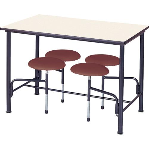 ■ニシキ 食堂テーブル 4人掛 ブラウン〔品番:STM1275BR〕[TR-4635655]【個人宅配送不可】
