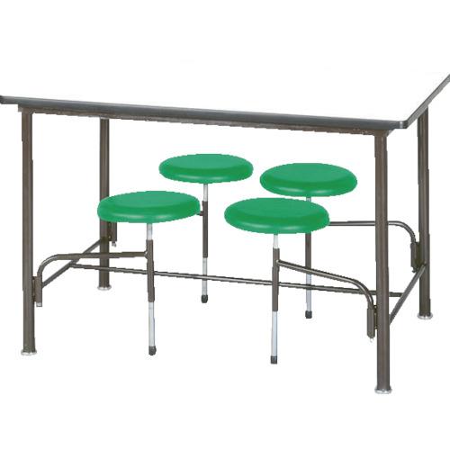■ニシキ 食堂テーブル 4人掛 グリーン〔品番:STM1275GN〕[TR-4635663]【重量物・個人宅配送不可】