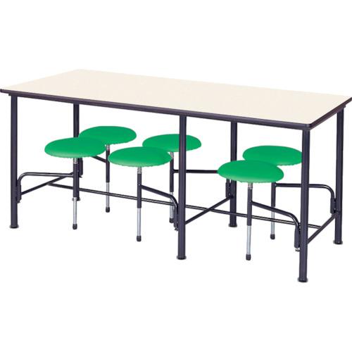 ■ニシキ 食堂テーブル 6人掛 グリーン〔品番:STM1875GN〕[TR-4635698]【個人宅配送不可】
