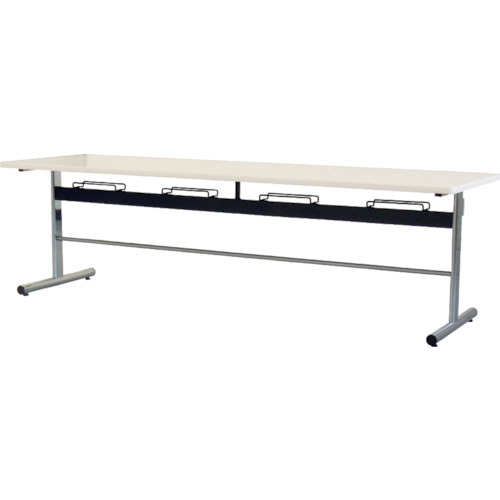 ■TOKIO 食堂用テーブル ソフトエッジ 2400×750mm ホワイト〔品番:DA-2475-W〕[TR-4645715]【個人宅配送不可】