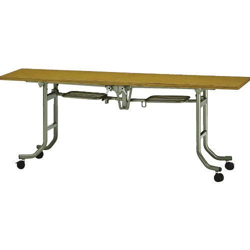 ■TRUSCO フライトテーブル 1800X450XH700 チーク T 〔品番:FLT-1845〕[TR-4645740]【大型・重量物・個人宅配送不可】