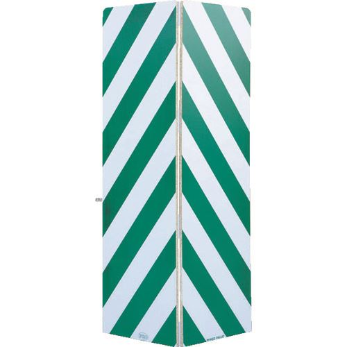 ■ワコー セーフティーガード白色・緑色448mm×1440mm〔品番:WSG-144-G〕[TR-4695526]【大型・重量物・個人宅配送不可】