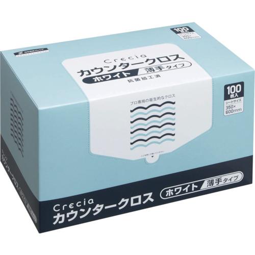 ■クレシア カウンタークロス 薄手タイプ ホワイト〔品番:65402〕[TR-4705173]
