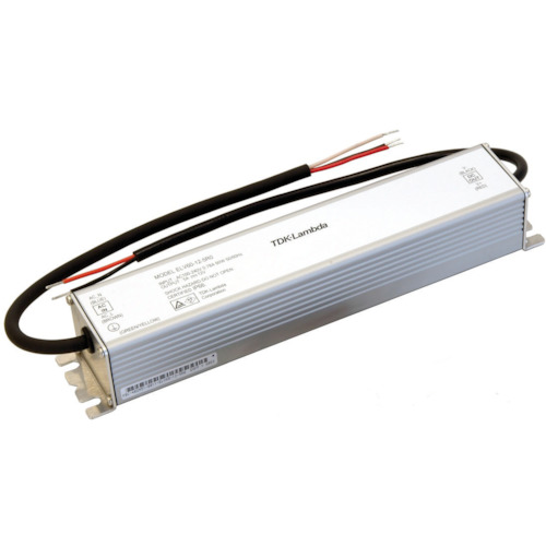■TDKラムダ 防塵防滴型LED機器用定電圧電源 ELVシリーズ 24Vタイプ〔品番:ELV60-24-2R5〕[TR-4707133]