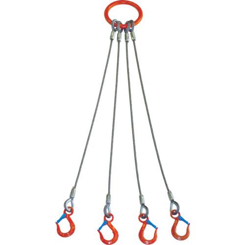 ■大洋 4本吊 ワイヤスリング 1.6T用×1.5M  〔品番:4WRS〕[TR-4730429]