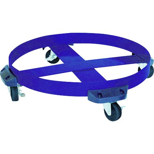 ■アクアシステム ドラム缶用キャリー ゴム製タイヤ(最大耐荷重250kg)〔品番:DC-NBR〕[TR-4747437]