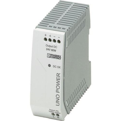 ■フエニックス フエニックスコンタクト 電源ユニット DINレール取付け 60W〔品番:UNO-PS/1AC/24DC/〕[TR-4798295]