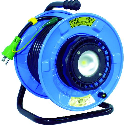 【正規通販】 ?日動 防雨・防塵型LEDライトリール 漏電保護専用遮だん器付〔品番:SDW-EB22-10W〕[TR-4866240]:ファーストFACTORY-DIY・工具