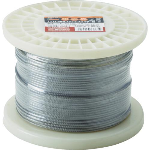 ■TRUSCO ステンレスワイヤロープ ナイロン被覆 Φ2.0(2.5)MMX10  〔品番:CWC-2S100〕[TR-4890892]