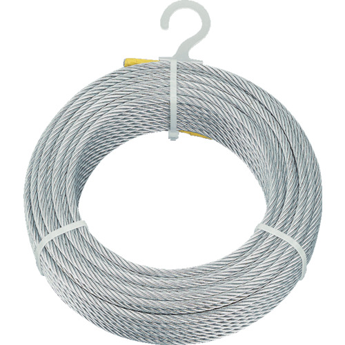 ■TRUSCO メッキ付ワイヤロープ Φ9MMX50M  〔品番:CWM-9S50〕[TR-4891163]