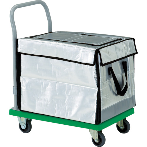 ■TRUSCO 樹脂台車 グランカート 保冷ハンドトラックボックス付 718X468〔品番:TP-702-THBC〕[TR-4892976]【大型・重量物】