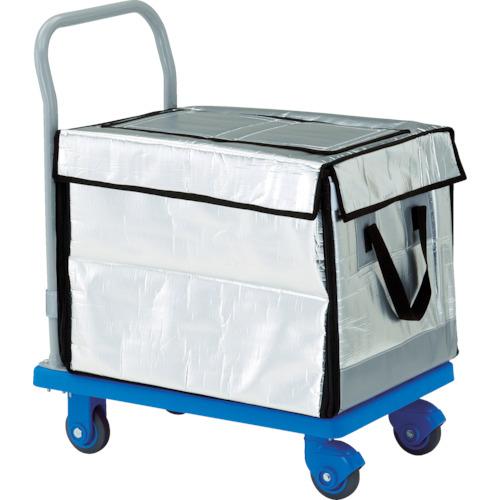 ■TRUSCO 樹脂台車 グランカート サイレント 保冷ハンドトラックボックス付 718X4  〔品番:TP-X702-THBC〕[TR-4893611]【大型・重量物・個人宅配送不可】
