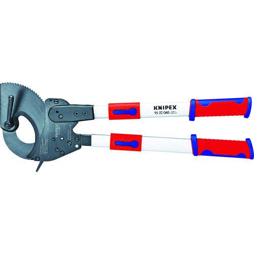 ■KNIPEX 9532-060 ラチェット式ケーブルカッター 600MM〔品番:9532-060〕[TR-4970934]