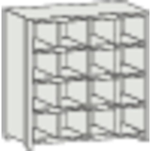 ■TRUSCO KA型区分棚コボレ止め付 889X214XH927 4列4段  〔品番:KA-4043〕[TR-5041180]【大型・重量物・個人宅配送不可】