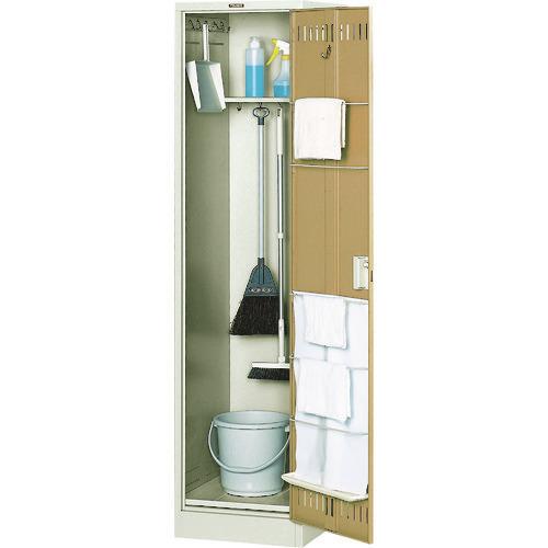 ■TRUSCO 掃除用具ケース 棚付 W455XD515XH1790  〔品番:NCS〕[TR-5051223]【大型・重量物・個人宅配送不可】