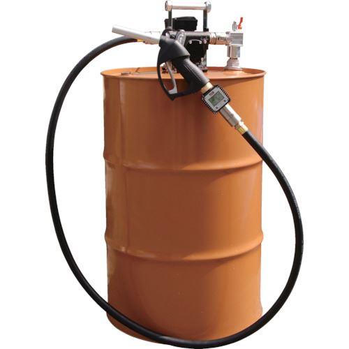 ■アクアシステム 流量計付電動ドラムポンプ(100V) 灯油 軽油  〔品番:EVPD-56K24〕[TR-5095832]【個人宅配送不可】