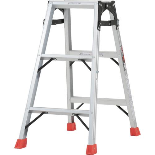 ■TRUSCO はしご兼用脚立 アルミ合金製・脚カバー付 高さ0.81M  〔品番:THK-090〕[TR-5123666]【大型・重量物・個人宅配送不可】
