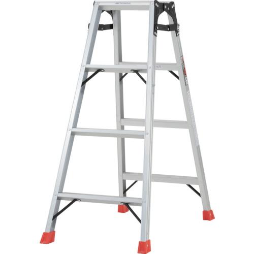 ■TRUSCO はしご兼用脚立 アルミ合金製・脚カバー付 高さ1.11M  〔品番:THK-120〕[TR-5123674]【大型・重量物・個人宅配送不可】