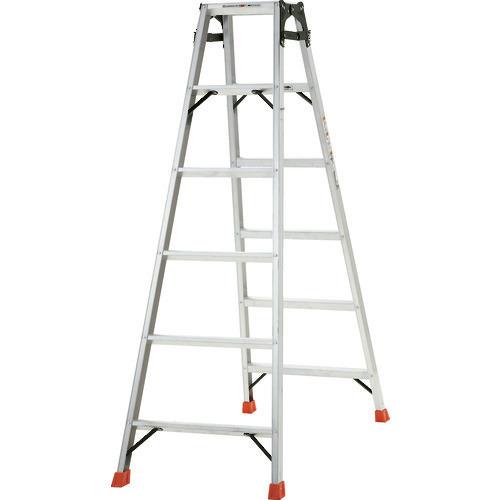 ■TRUSCO はしご兼用脚立 アルミ合金製・脚カバー付 高さ1.69M  〔品番:THK-180〕[TR-5123691]【大型・重量物・個人宅配送不可】
