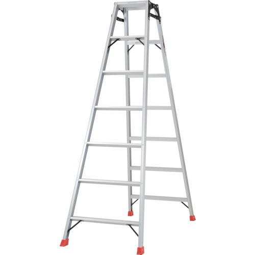 ■TRUSCO はしご兼用脚立 アルミ合金製・脚カバー付 高さ1.98M  〔品番:THK-210〕[TR-5123704]【大型・重量物・個人宅配送不可】