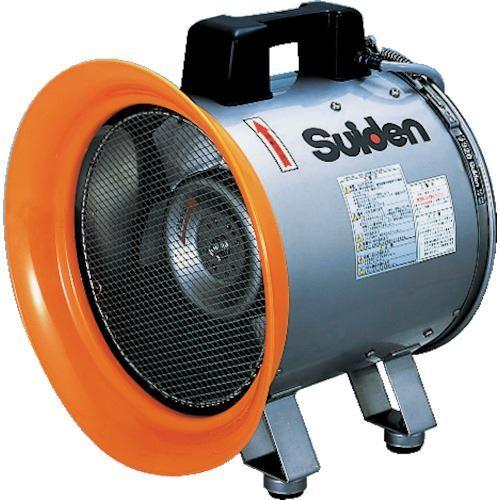 ■スイデン 送風機(軸流ファンブロワ)ハネ288mm単相200V防食型〔品番:SJF-300C-2〕[TR-5188148]【個人宅配送不可】