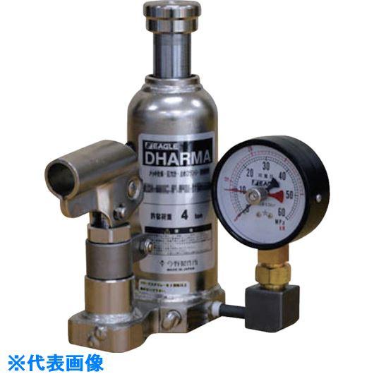 ■イーグル 置針式ゲージ付油圧ジャッキ クリーンルームタイプ 能力6T  〔品番:ED-60C-PG-75H-60〕[TR-5224209]