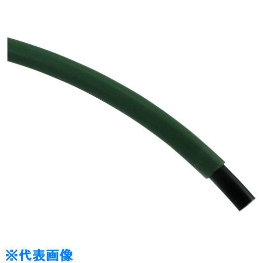 ■チヨダ CTPカバーチューブ 10mm/100m 緑〔品番:CTP-10G〕[TR-5419620]【個人宅配送不可】