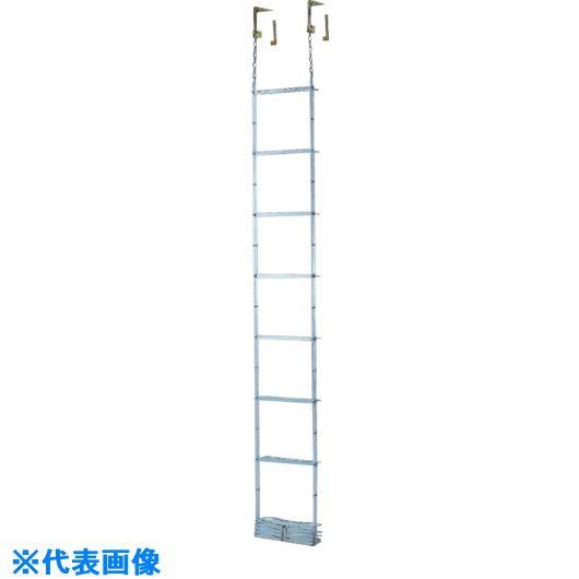 ■ピカ 避難用鋼製折りたたみはしごES 4.1M  〔品番:ES-42〕[TR-5425727]【大型・重量物・送料別途お見積り】