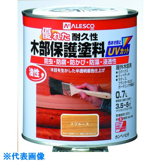 ■KANSAI 油性木部保護塗料 0.7L とうめい《6缶入》〔品番:714-1010.7〕[TR-5429021]