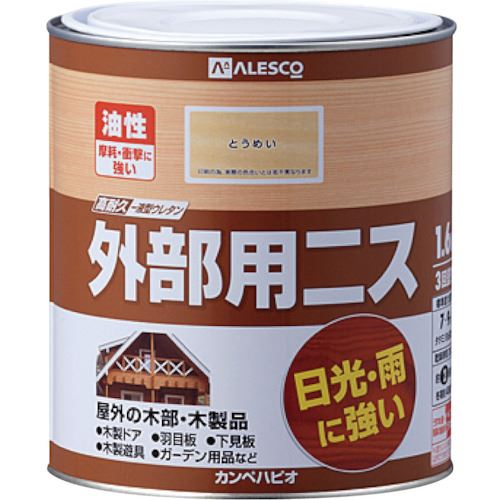 ■KANSAI 外部用ニス 1.6L とうめい《6缶入》〔品番:778-101-1.6〕[TR-5429749]