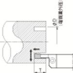 ■京セラ 溝入れ用ホルダ  〔品番:KFMSL2525M5464-8〕掲外取寄[TR-5496586]