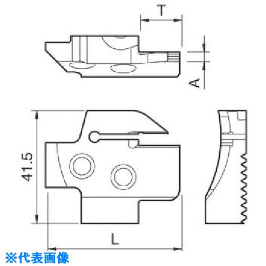 ■京セラ 溝入れ用ホルダ  〔品番:KGDFR-180-6C-C〕[TR-5498627]