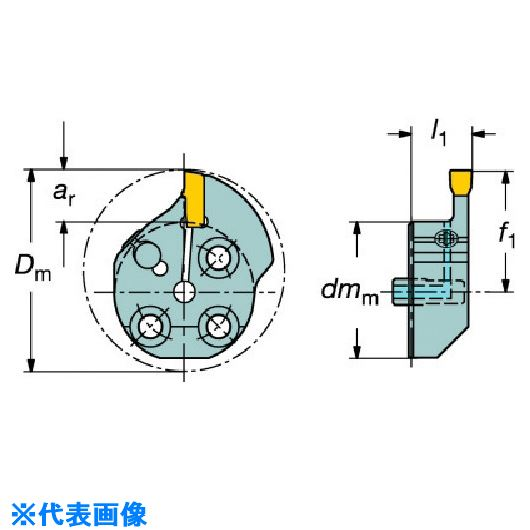 ■サンドビック コロターンSL T-MAX Q-カット用カッティングヘッド  〔品番:570-32L151.3-024B25〕[TR-5630509]