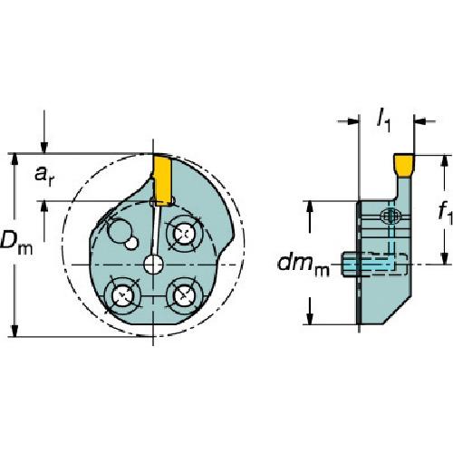 ■サンドビック コロターンSL T-MAX Q-カット用カッティングヘッド  〔品番:570-32R151.3-08-20〕[TR-5631378]