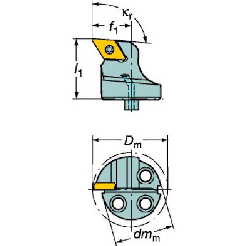 ■サンドビック コロターンSL コロターン107用カッティングヘッド  〔品番:570-SDUCR-40-11〕[TR-5633044]